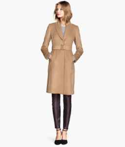 h and m wool coat