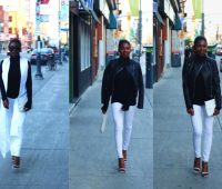 You can achieve a beautiful fall look with the noir et blanc style