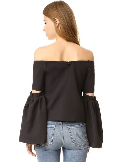 Sale: Re:named Off Shoulder Cutout Sleeve Top