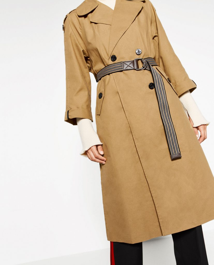 Sale: Zara Long Trench Coat
